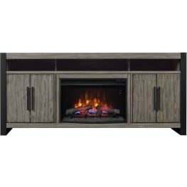 """ClassicFlame Spanish Gray Costa Mesa TV Stand with 26"""" Electric Fireplace"""
