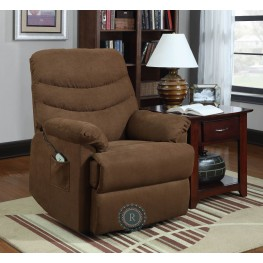 Elevated Brown Power Lift Chair