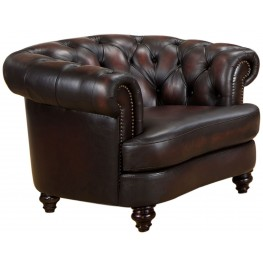 Mario Brown Leather Arm Chair