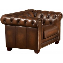 Stanley Park II Brown Leather Armchair