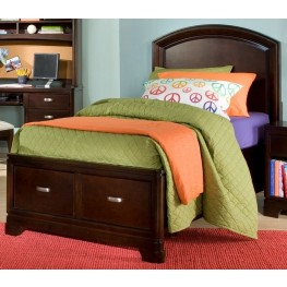 Park City Merlot Twin Platform Storage Bed