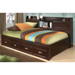 Park City Merlot Full Bookcase Storage Lounge Bed
