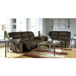 Quinnlyn Coffee Power Reclining Living Room Set