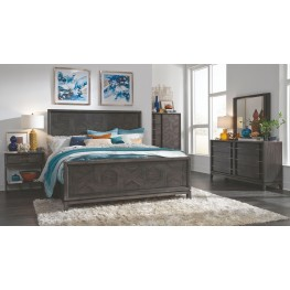 Proximity Heights Smoke Anthracite Pattern Panel Bedroom Set