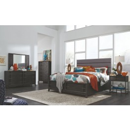 Proximity Heights Smoke Anthracite Upholstered Storage Bedroom Set