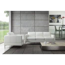 Tobia Snow White Leather Living Room Set