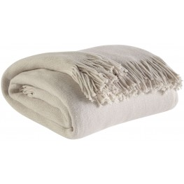 Haiden Ivory and Taupe Throw Set of 3