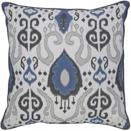 Damaria Blue and White Pillow
