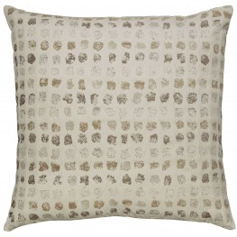 Whitehurst Cream and Taupe Pillow Set of 4
