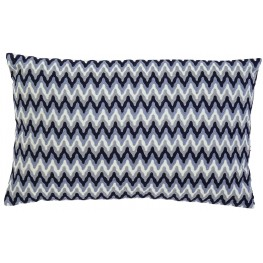Embroidered Navy Pillow Set of 4