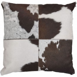 Tegan Dark Brown and White Pillow