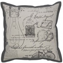 Arva Natural and Gray Pillow