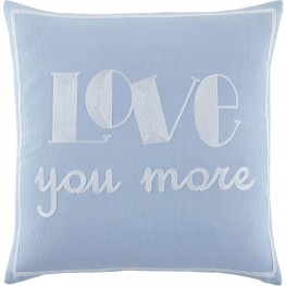 Love You More Blue Pillow Set of 4
