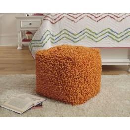 Taisce Orange Pouf