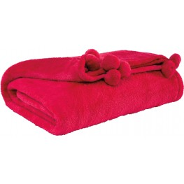 Aniol Fuchsia Throw Set of 3