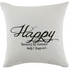 Happy White Pillow Set of 4