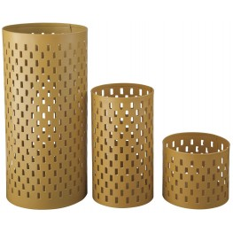 Caelan Yellow Candle Holder Set of 3