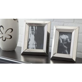 Keyon Nickel Finish Photo Frame Set of 2