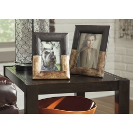 Michi Bronze Finish and Wood Photo Frame Set of 2