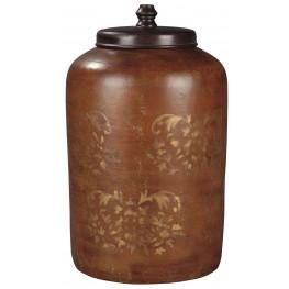 "Odalis Orange and Tan 17"" Jar"