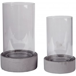 Dieter Gray Candle Holder Set of 2