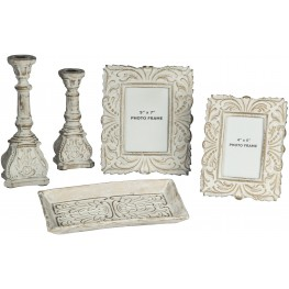 Dilys Antique White Accessory Set of 5