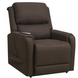 Brown Heat And Massaging Lift Chair