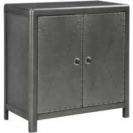 Rock Ridge Aged Steel Small Door Accent Cabinet