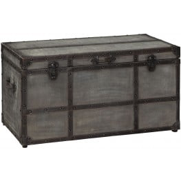 Amsel Gray Storage Trunk