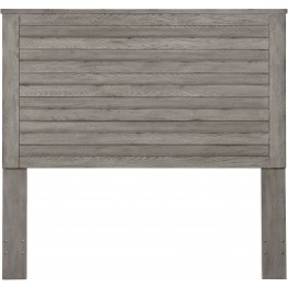 Weathered Grey Horizontal Slat Overlay Queen Headboard