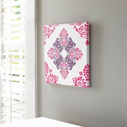 A8000160 Jadine White and Pink Wall Art