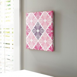 A8000161 Jadine White and Pink Wall Art