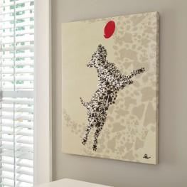 A8000176 Berniss Tan and Black Wall Art