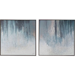 Dyan Blue and White Wall Art Set of 2
