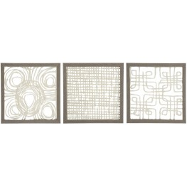Odella Cream And Taupe Wall Decor Set of 3