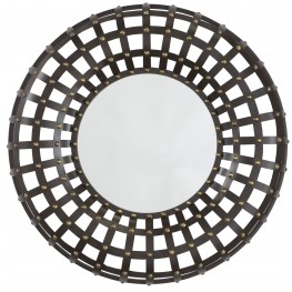 Ogier Brown and Gold Accent Mirror