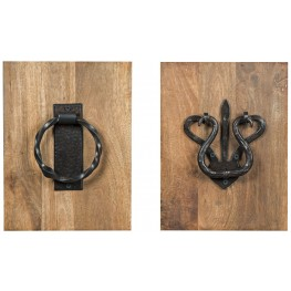 Dezso Brown and Natural Wall Decor Set