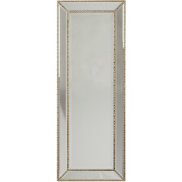 Dhavala Silver and Black Accent Mirror