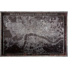 Divyesh Black and Silver Map Design Wall Decor