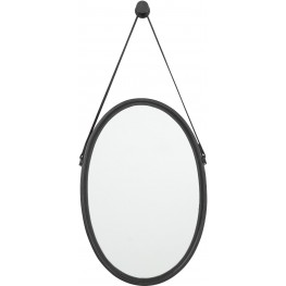 Dusan Black Oval Accent Mirror