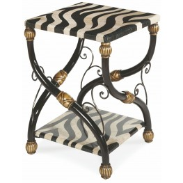 Cairo Zebra Accent Table