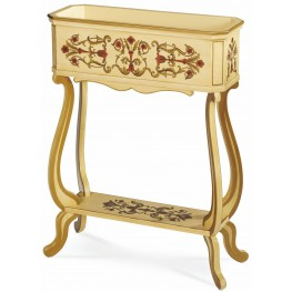 Clayton White Planter Accent Table