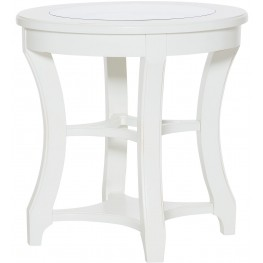 Lynn Haven Soft Dover White Round End Table