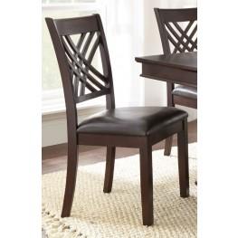 Adrian Dark Brown Side Chair Set of 2