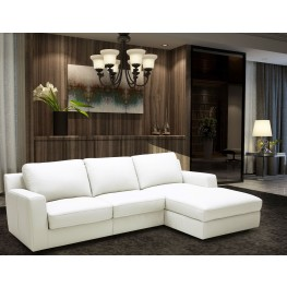 Alexis White Leather RAF Sectional