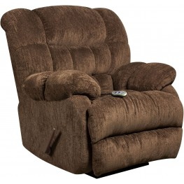 Massaging Columbia Mushroom Microfiber Rocker Recliner