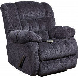 Massaging Columbia Indigo Blue Microfiber Rocker Recliner