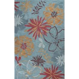 """Anise Ocean Wildflowers 63"""" X 39"""" Rug"""