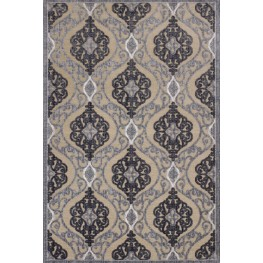"Anna Sand and Grey Medallia 134"" X 94"" Rug"