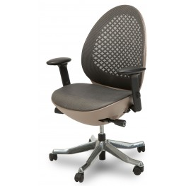 Linq Mid Charcoal Mesh Swivel Chair